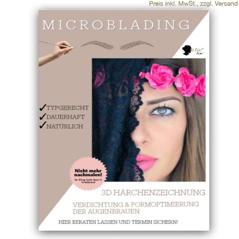 WOWbrows Microblading Poster im Format DIN A1