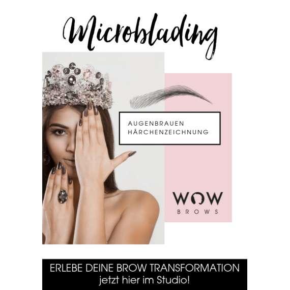 WOWbrows Microblading Flyer für Endkunden Vorderseite