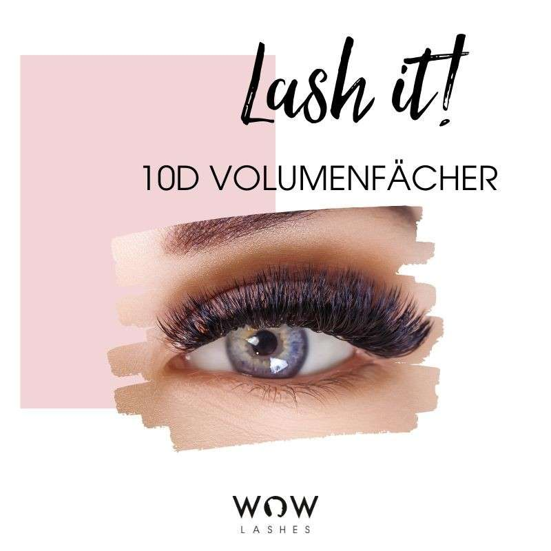 WOWLashes 10 D Wimpernfächer als Tray