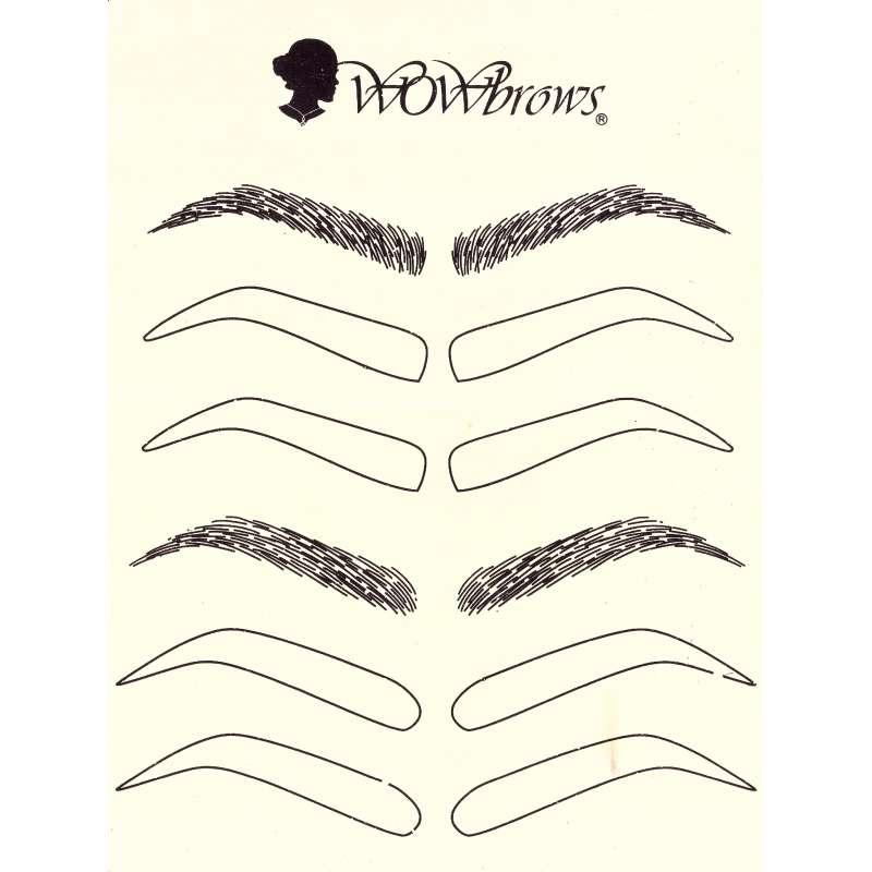 Microblading Übungshaut WOWbrows Styles mit Vorgezeichneten Outlines.