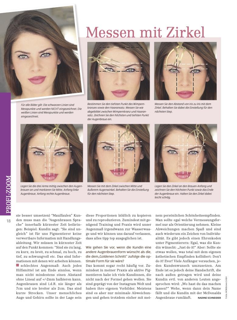 Vermessung des Gesichtes vor einer Microblading Behandlung